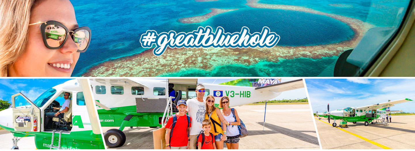 Belize City flights to the Great Belize Blue Hole