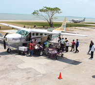 How to charter a plane for a local domestic flight in Belize.